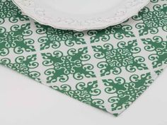 Ornamental Place Mat in Shamrock from Southern Sisters Home
