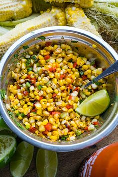 Sriracha Lime Corn Salad