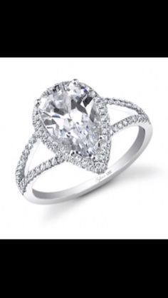 2.49 carat pear shape diamond solitaire D color. Set in a 14kt white gold split shank ring. Gayle's Jewelers Bogalusa, La