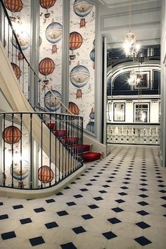 Saint James Hotel, Paris enlarge to see the fabulous detail in the wall paper...
