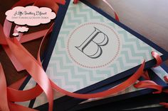 Baby Love Gender Neutral Baby Shower Banner in Mint Green Chevron, Navy Blue, and Coral