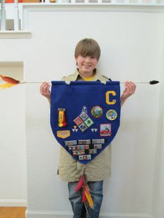 Arrow of Light Banner for my son's Cub Scout crossing over to Boy Scouts.   Blue and Gold Dinner.