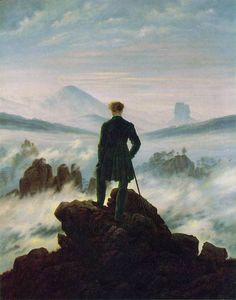 'Wanderer Above the Sea of Fog' and it was painted by Caspar David Friedrich in 1817.