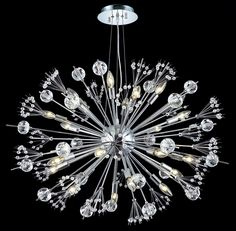 Cyclone 24 Light Crystal (Clear) Chandelier in Chrome Finish 3400D36C/EC