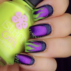 Hey there lovers of nail art! In this post we are going to share with you some Magnificent Nail Art Designs that are going to catch your eye and that you will want to copy for sure. Nail art is gaining more… Read Love Nails, Fun Nails, Maleficent Nails, Nail Art Disney, Nail Art Halloween, Uñas Fashion, Latest Fashion, Nail Polish, Nail Manicure