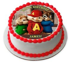 ALVIN AND THE CHIPMUNKS ROAD CHIP Edible Birthday Cake Topper