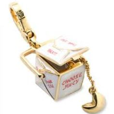 Chinese Takeout and Fortune Cookie Juicy Couture Charm. I'm the Princess of Chinese takeout. :)