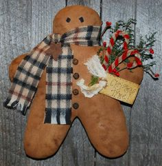 Gingerbread Man Wall Hanging EPATTERN