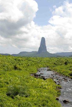 São Tomé - Cão Grande peak, Central Africa