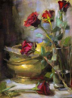 """""""A Romantic at Heart"""" original fine art by Pamela Blaies"""