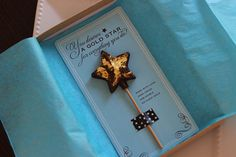 Edible Chocolate Gold Star for Teacher Appreciation gifts