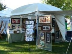 Art Fair Tents u0026 Canopies & TrimLine Canopy with Rear Door French Wall and Adjustable Width ...