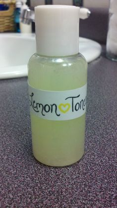 Lemon toner - Helps acne, to reduce redness, and reduce pore size. Made 08/31/2012