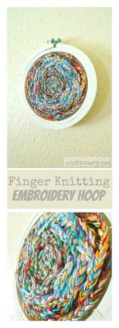 Finger Knitted Art