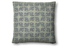 Matsya 20x20 Linen Pillow, Navy