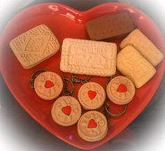 Modelling clay biscuits Handmade by Sheila Atkinson 2014