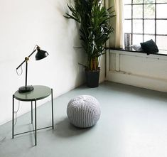 37h x 45d contemporary and practical addition to any home interior. The round footstool is the perfect place to prop your feet up whilst also adding extra seating to your home for any extra guests. The neutral cream white colour fits well into any home interior. Also available in grey.