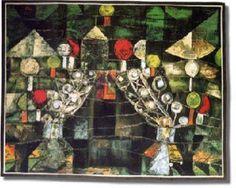 Paul Klee, Padiglione delle donne, 1921, olio su cartone, Collezione privata, New York.