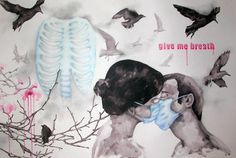 Give me breath Painting by smolska marianne