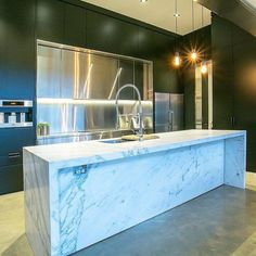 """Don't miss this one by bespoke_design_group #homedesign #contratahotel (o) http://ift.tt/1KqFseo Black Rock kitchen remodel featured stainless steel centred cabinetry along side our aluminium two pack painted kitchen and a light featured """"Nuvo"""" Calacatta marble island  #interior #bespoke #interiordesign #design #home #homeinspo #renovation #decor #inspo #designer #interiordesigner #homedecor #minimal #Melbourne #minimalist #work #stylist #lust #style  #livingroom #designporn…"""