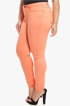 Plus Size Andie Coral Skinny Jeans | Fashion To Figure