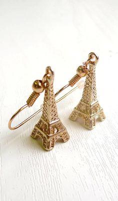 Eiffel Tower Drop Earrings