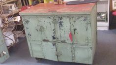 primative iron front cabinet apraised at over $500.00