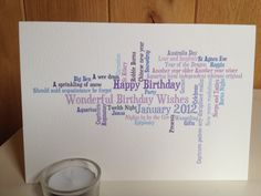 New to weheartcards on Etsy: 50 Shades of Blue Custom Personalised Greetings Card (7.95 GBP)