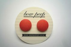 These button earrings have been treated with Scotch-guard which prevents stains.Each button is approximately in diameter. Button Earrings, Peeps, Coral, Bows, Buttons, Orange, Pretty, Handmade, Stuff To Buy