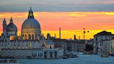 Venice sunset view.