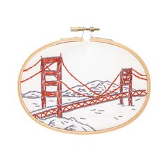 This charming, small embroidery kit of San Francisco's Golden Gate Bridge is part of my West Coast series. If you have West Coast pride, now you can show it off with a stitched landmark you love. How