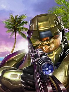 Master Chief by Greg Horn.