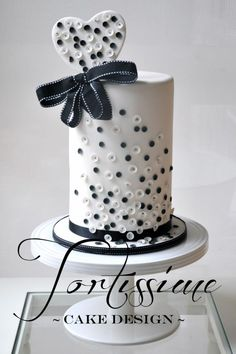 Sequins cake with matching sequinned love heart topper - Cake by Tortissime Cake Design