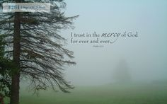 """Wallpaper: """"I trust in the mercy of God for ever and ever"""" -Psalm 52:8"""