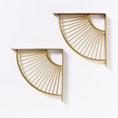 West Elm brackets, NEED THIS IN MY LIFE http://www.westelm.com/products/mid-century-star-burst-bracket-shelving-antique-brass-h1378/?pkey=call-new&