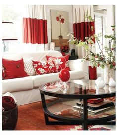 Red Cream Living Room Red Rooms White Rooms Living Room Red Red