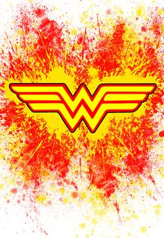 Colorful Wonder Woman Logo Poster With Red by ShereewithakeyDesign