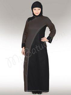 Aleeza Abaya !   Style No: Ay-112   Shopping Link  : http://www.mybatua.com/aleeza-abaya   Available Sizes XS to 7XL (size chart: http://www.mybatua.com/size-chart/#ABAYA/JILBAB)
