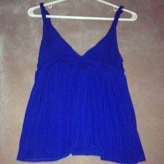 Adorable Summer Top In perfect condition, worn twice and dry cleaned. No signs of wear. Gorgeous cobalt blue color. Frenzii Tops