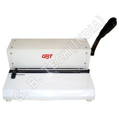 These Spiral Binding Machine are designed using superior quality raw material and are available in various sizes & dimensions. The binding machine is reckoned for its superb punching capacity, low maintenance and hassle free operation.  http://www.gbtechindia.com/spiral-binding-machine.html#sb-305-spiral-binding