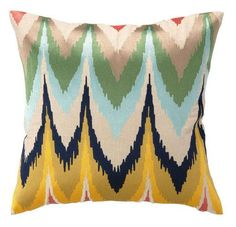 Den/Frequency Flame Stitch Pillow
