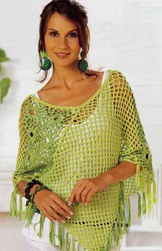 Poncho in shades of green. Discussion on LiveInternet - Russian Service Online Diaries