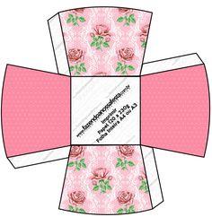 Chachepô de Mesa Floral Rosa Provençal:
