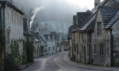 Castle Combe in a mystical fog, Wiltshire, UK