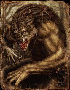 Werewolf by Alexandr (Sumerky) - werewolf, werwolf, wolfman - Art of Fantasy Mythological Creatures, Fantasy Creatures, Mythical Creatures, Bark At The Moon, Howl At The Moon, Dark Fantasy, Fantasy Art, Fantasy Series, Wolf Hybrid