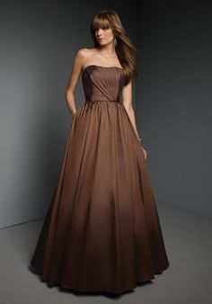 Buy 2013 Ball Gown Strapless Chocolate Taffeta Bridesmaid Garments Online Cheap Prices