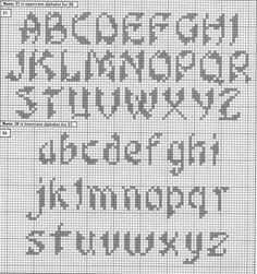 ♥Meus Gráficos De Ponto Cruz♥: Alfabeto