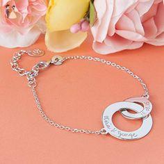 Personalized Intertwined Chain Bracelet - Wedding bracelets (*Amazon Partner-Link)