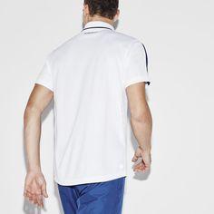 Polo com fecho de correr Tennis Lacoste SPORT em piqué ultra-dry
