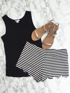 Scallop Shorts | Poolside Cabana | sassyshortcake.com